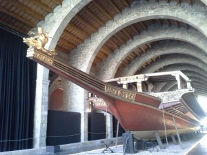 Replica of the flagship in the European fleet that trounced the Turks in 1571